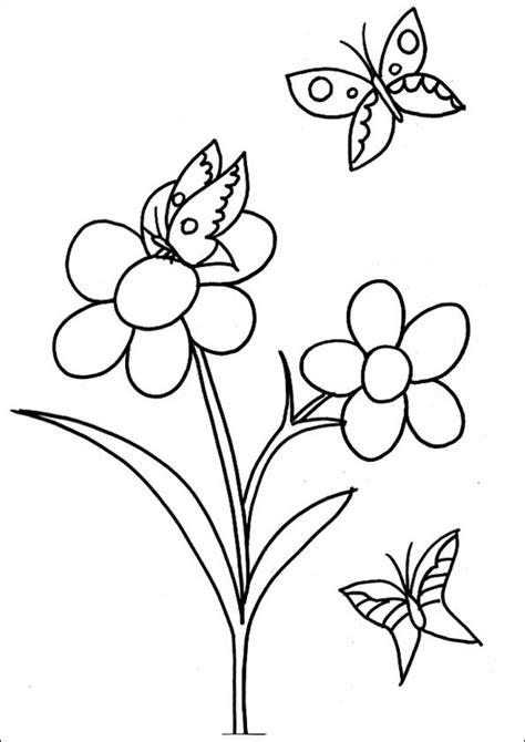 dibujo de mariposa en flores para colorear blumen ausmalbilder 14 ausmalbilder
