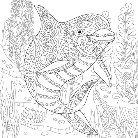 coloring pages for adults underwater underwater dolphin coloring page coloring pages