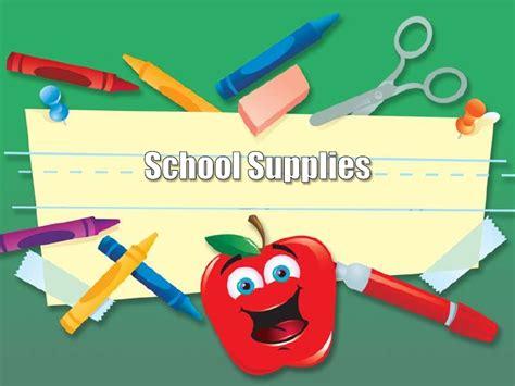 School Supplies Design Template | school supplies design template