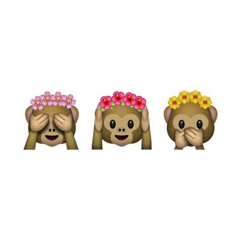 flower design emoji monkey emoji with flower crown shirt flower inspiration