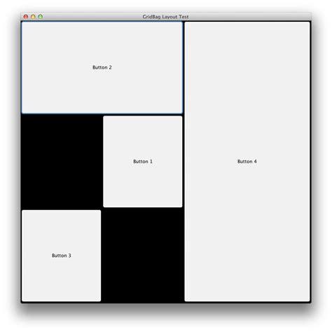 Meaning Of Layout In Java | java understanding gridbaglayout constraints stack
