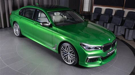 green bmw rallye green m760li is a bmw individual tour de