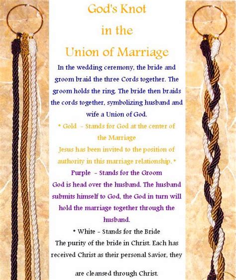 Wedding Ceremony Knot Tying by God S Knot Ceremony Wedding Ideas Be Cool