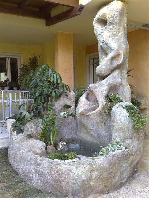 cascate artificiali per interni il giardino roccioso