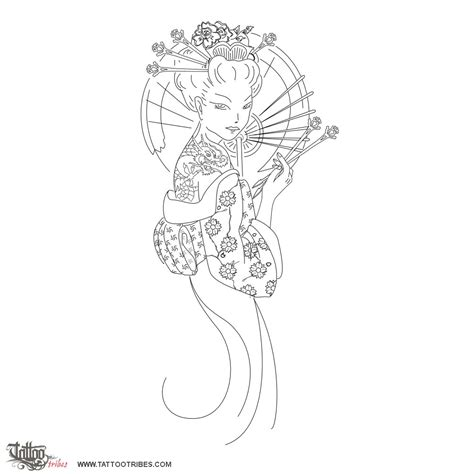 geisha tattoo stencil geisha tattoo stencils pictures to pin on pinterest