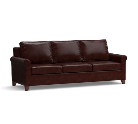 cameron pottery barn sofa review cameron roll arm leather sofa pottery barn
