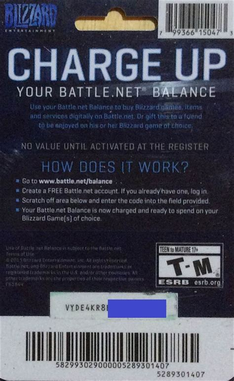 Battle Net Balance Gift Card - battle net 20 usd gift card photo discounts