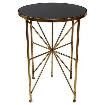 target end table ls ls dimond home black and gold draper drum table in black