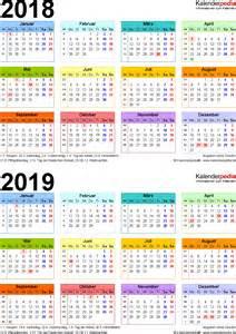 Kalender 2018 Juli August Zweijahreskalender 2018 2019 Als Pdf Vorlagen Zum Ausdrucken