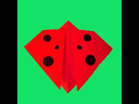 Origami Ladybug - how to make an ladybug using origami paper origami
