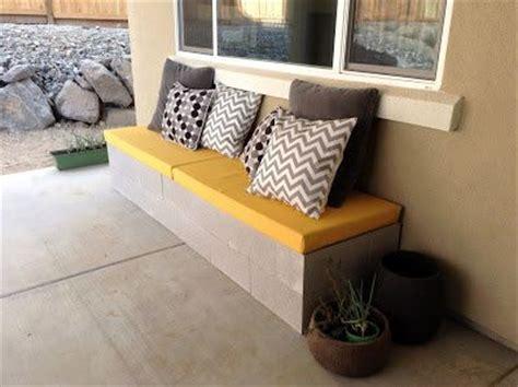 cheap concrete benches diy fabric covered cinder block outdoor bench diy