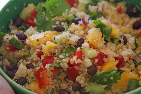 quinoa salad curried quinoa salad with black beans and mango dinner