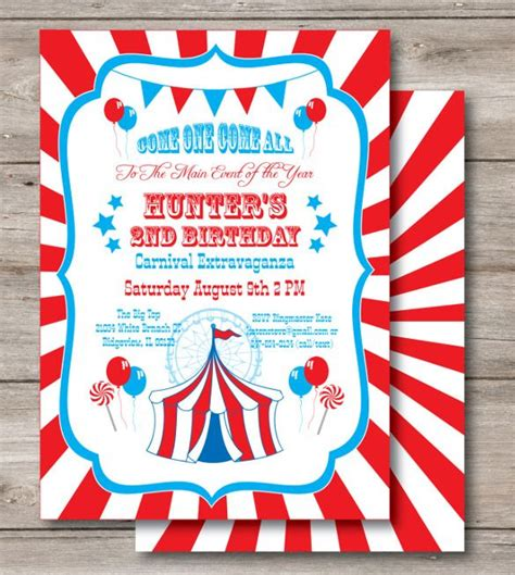 25 best ideas about carnival birthday invitations on