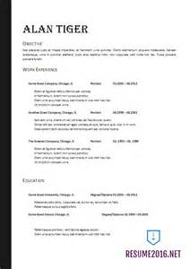 Free Resume Format Template by Resume Format 2017 20 Free Word Templates
