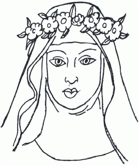 imagenes para colorear a santa rosa de lima santa rosa para colorear imagui