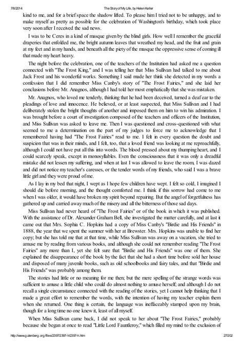 Helen Keller Essay by The Story Of My By Helen Keller