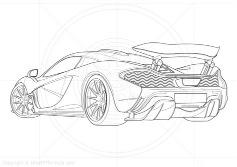 mclaren p1 drawing easy general thewptformula