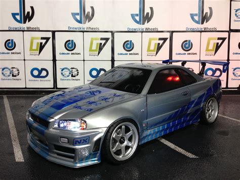 nissan skyline r34 paul walker tamiya 190mm nissan skyline r34 paul walker edition oak