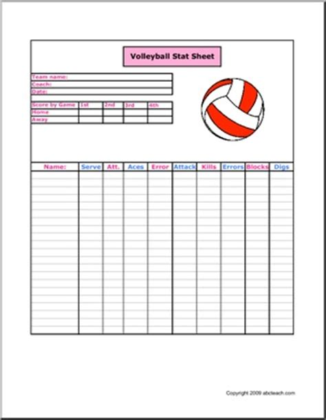 printable volleyball stat sheets free printable volleyball stat sheets pokemon go search for
