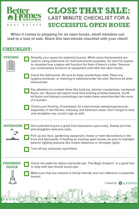 house checklist that sale your last minute open house checklist