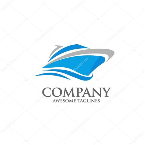 yacht speed yacht speed boat ship logo concept stock vector
