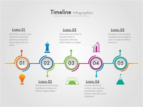 layout for timeline roadmap timeline infographics layout with 5 steps vector