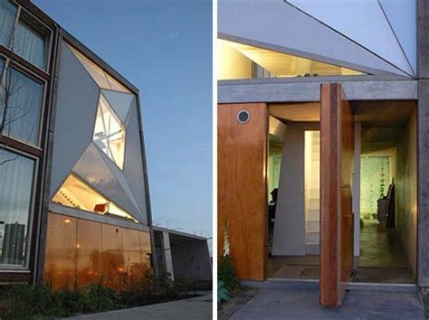funky house designs amazing angles unique urban townhouse design