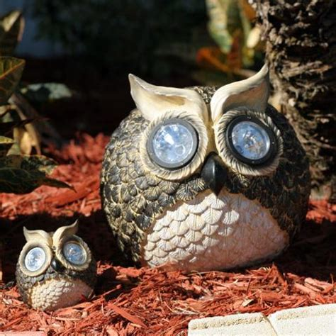 Garden Pals Solar Owl Accent Lights Set Of 2 Owl Solar Lights
