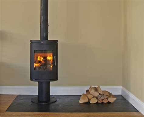 Types Of Kitchen Design Morso 6140 Installation With Slate Tiled Hearth