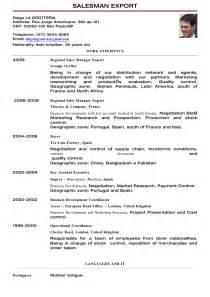 Export Sle Resume by Cv