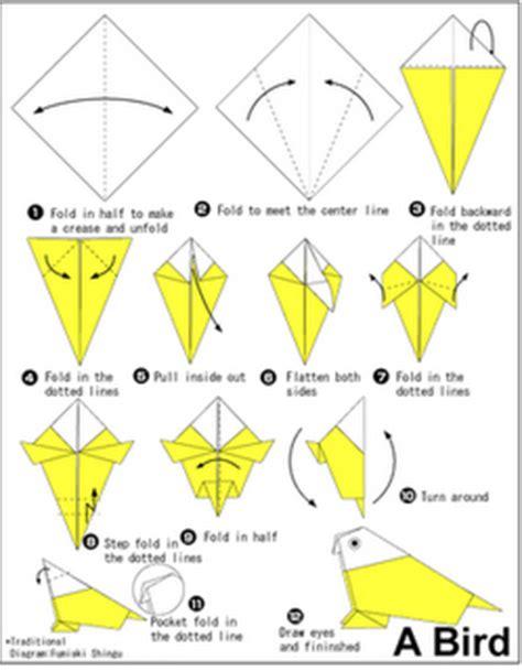 tutorial pembuatan burung dari kertas origami keterilan origami yang penting hepi