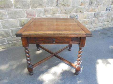 antique oak barley twist draw leaf extending dining table kitchen table 350315