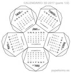 Calendarios Gratis 2017 Para Imprimir Calendario 3d 2017 Pdf Para Imprimir Papelisimo