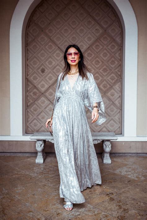 Elizabeth Kaftan Dress style of sam elizabeth metallic caftan dress