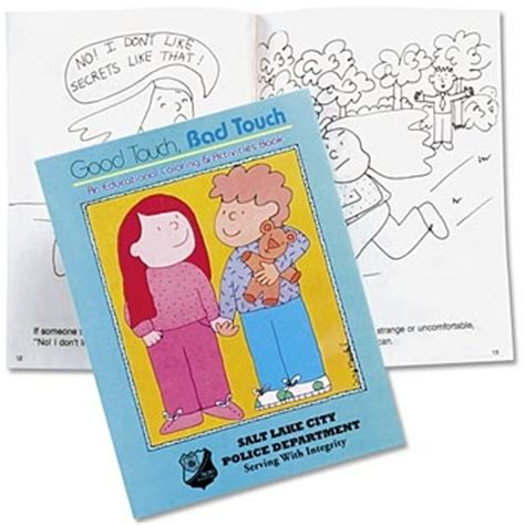 coloring book touch bad touch touch bad touch book