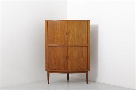 corner cabinet with doors corner cabinet in teak with tambour doors