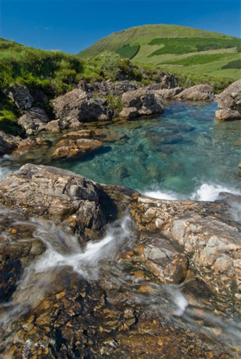 isle  skye fairy pools photo summers day
