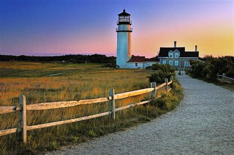 cape cod light houses dusk at cape cod lighthouse by schoeller
