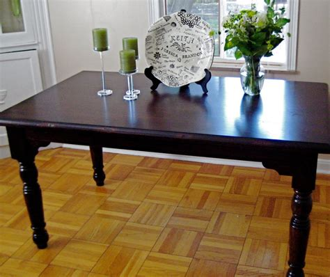 Refinishing Dining Room Table | little and lovely diy refinishing the dining room table