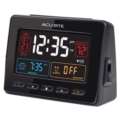 atomic clock with usb charger dual alarm