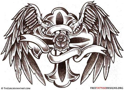 tattoo angel cross angel wings tattoo gallery 50 cross tattoos tattoo