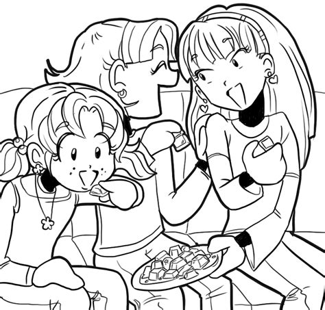 coloring pages of dork diaries nikki chloe and sketch