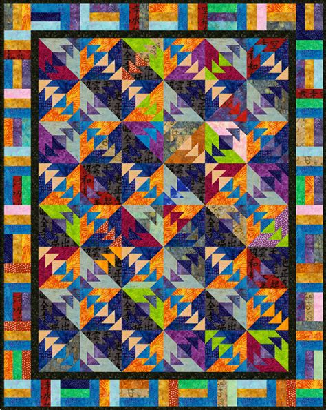 Top Quilt Pattern by Batik Sensation By Kenley Quilting Pattern