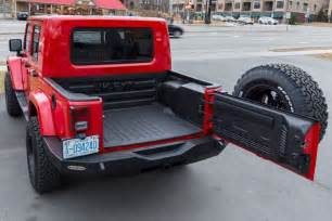 jeep with truck bed rubitrux jeep wrangler jk ext truck conversion