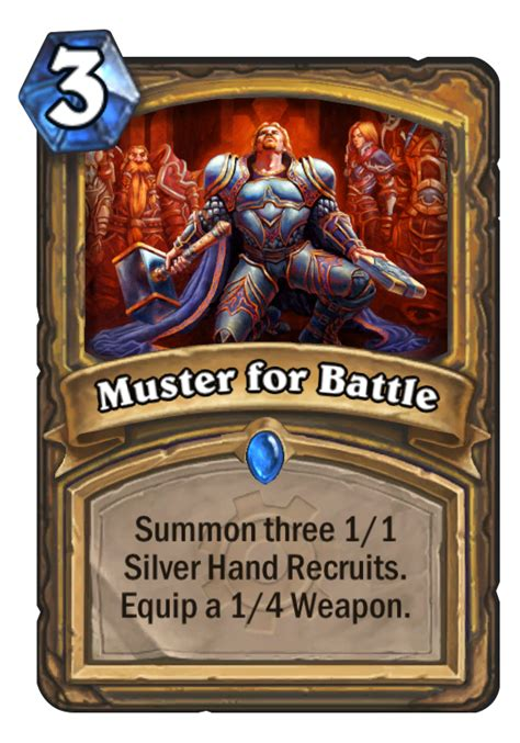 Muster For Battle Deck Muster For Battle Hearthstone Card