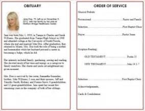 Aba Program Template by Printable Funeral Service Program Templates Cards
