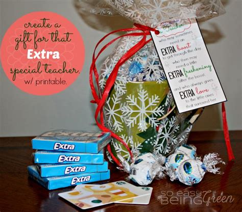 diy teacher gifts for christmas featuring extra gum for