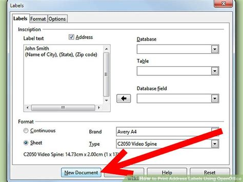 printing address labels with openoffice how to print address labels using openoffice with pictures