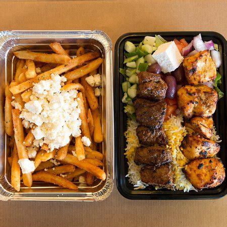 zendiggi kebab house beef chicken combo platter mediterranean fries foto zendiggi kebab house closter