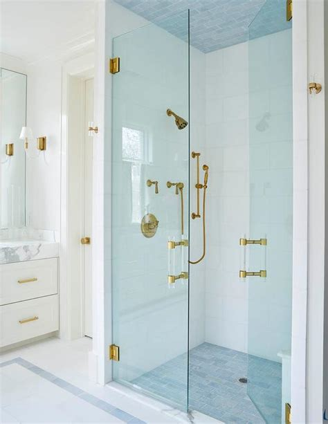 Blue Ceiling Tiles by Blue Shower Tiled Ceiling Design Ideas